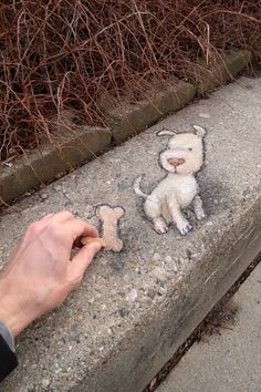David Zinn created brilliant temporary street art using chalk. He's serving all way of his clients to spread joy with his chalk drawings. Murals Street Art, 3d Street Art, Street Artists, Graffiti Art, David Zinn, Chalk Drawings, Art Drawings, 3d Chalk Art, Art 3d