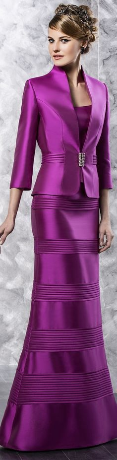 Purple mother of the bride evening dresses can be made of any fabric when made to order.  This is not one of our designs.  But we can easily replicate this couture style for you for less. We are in the #USA and specialize in custom mother of the bride dresses (and replicas of couture gowns) for women on a budget.  See other options and get info at www.dariuscordell.com