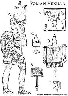 RedRampant.com: The Vexillum (Roman flag)