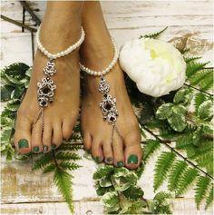 EMERALD - wedding barefoot sandals - green - irish wedding - kelly green