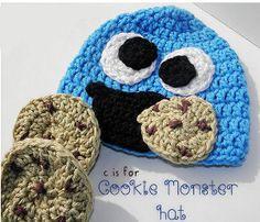 C is for Cookie Monster Hat | AllFreeCrochet.com