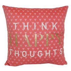 Simple By Design ''Happy Thoughts'' Throw Pillow