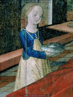 Midwife's apron http://pinterest.com/chris0260/15th-century-textiles-cloting/