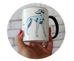 Italian Greyhound 11 oz Coffee Mug Standard by CausticThreads