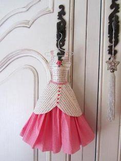 Papier Boudoir Boutique Sweet Cherry by lilliputloft on Etsy Pink Paper, Paper Roses, Paper Art, Paper Crafts, Diy Crafts, Origami Vestidos, Collage Kunst, Paper Clothes, Barbie Clothes