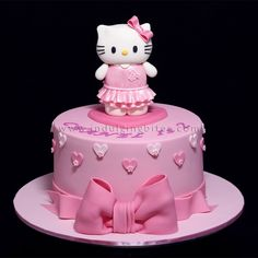 Hello Kitty in Pink Birthday Celebration Cake