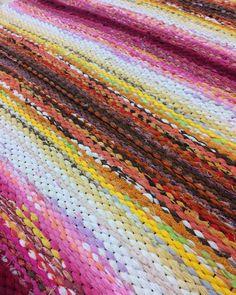 """Taito Lappi on Instagram: """"Viime viikolla meillä kudottiin kauniita kiikkalaisia. . . #taitolappi #onnielääkäsityössä #kutominen #kudottu #weaving #weave #woven…"""" Peg Loom, Tear, Loom Weaving, Recycled Fabric, Woven Rug, Scandinavian Style, Pattern Design, Recycling, Projects To Try"""