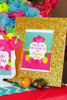 Tips the their personal gifts young little girls and boys will naturally absolutely adore recently. Hawaiian Luau Party, Tropical Party, Luau Bridal Shower, Flamingo Birthday, 60 Birthday, Flamingo Photo, Thank You Sign, Summer Pool Party, Gifts For Teens