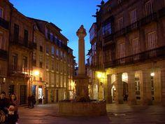 Plaza de Cervantes, Santiago de Campostela. (A Coruña). Galicia. Spain.