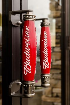 american door handles - Recycling old beer taps for use as pull handles is such a great idea