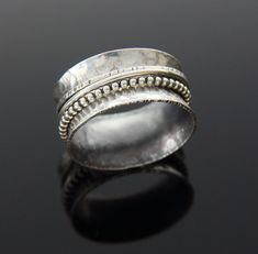 Custom Sterling Silver Spinner Ring by glasskatz on Etsy, $68.00