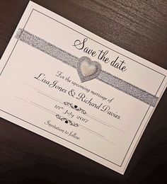 """Handmade personalised Wedding """"Save the date"""" #RetroDeco_FromtheHeartsDottyHeartscollect"""