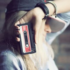 cassette phone case - This cassette phone case is the perfect way to upload your Throw Back Thursday and Flash Back Friday pictures. The retro design works for iPhone 4 . Iphone Design, Cool Iphone Cases, Iphone 4, Portable Iphone, Mobile Accessories, Phone Accessories, Phone Covers, Cool Gadgets, Just In Case