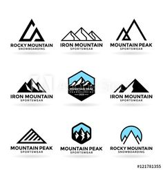 Logo design elements Effective Pictures We Offer You About sport Identity Design A quality picture can tell you many things. You can find the most beautiful pictures that can be presented to you about Identity Design 2019 in this Logo Montagne, Mining Logo, Inspiration Logo Design, Outdoor Logos, Geometric Nature, Mountain Logos, Travel Logo, Band Logos, Creative Logo