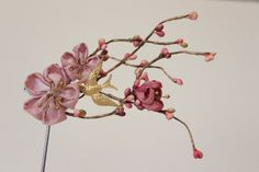 Cherry blossom hair accessories   light pink by MyDivineBoutique, $60.00