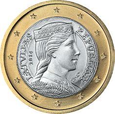 1 Euro Lettonia 2014