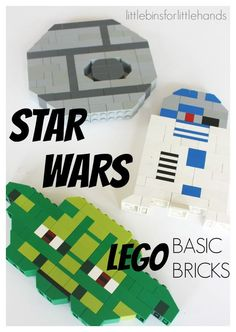 LEGO Star Wars Building Ideas with Basic Bricks. Build LEGO characters with basic bricks including Yoda, and a Death Star. LEGO building ideas for STEM that are perfect for younger builders and builders of different skill levels. Use simple basic br Lego Duplo, Lego Technic, Lego Basic, Lego Club, Star Wars Birthday, Star Wars Party, Lego Birthday, Lego Building, Building Ideas