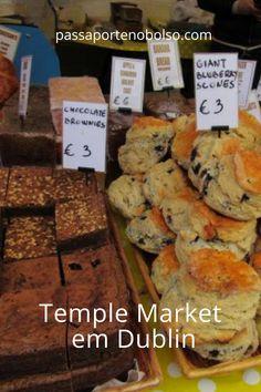 Mercado local em Temple Market. Só acontece uma vez por semana! #dublin #passaportenobolso #viajar Dublin, Places, Food, Passport, Gastronomia, Restaurants, Dublin Ireland, Traveling, Essen