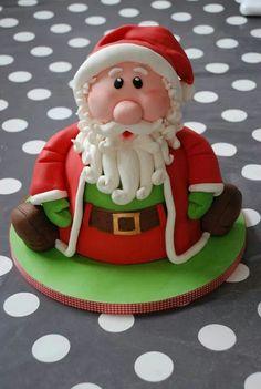Santa Cake | cake fetish | Pinterest | Santa cake and Cake