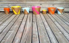 How cute are these little flower pots?