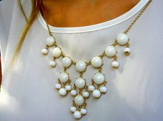Winter White Bubble Necklaces Now Available!!  Designer Inspired. by PlumbGlad, $10.00