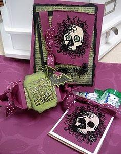 Skeleton Halloween card and treat holder