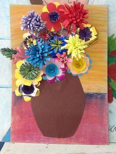 grade 4 mothers day art - Google Search