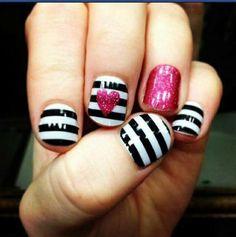Cute manicure idea I saw on Craigslist of all places!