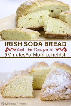 How to make traditional Irish Soda Bread - Get the full recipe and discover the history of Irish Soda Bread at 5minutesformom.com/irish Easy to make, affordable and delicious homemade bread. #irish #sodabread #homemadebread Irish Soda Bread Recipe, Tasty Bread Recipe, Quick Bread Recipes, Savoury Recipes, Cookie Recipes, Dessert Recipes, Traditional Irish Soda Bread, Baking Stone, Pinterest Recipes
