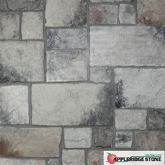 Appleridge Stone - Stone Veneer: Our Castlestone pattern is similar to our Cobblestone pattern, but with larger stones. (Shown in Gray color)