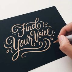 Beautiful lettering work by Joanna Muñoz, aka Wink & Wonder, an art director based in Los Angeles. More lettering inspiration via From up North Calligraphy Quotes, Hand Lettering Quotes, Creative Lettering, Types Of Lettering, Script Lettering, Calligraphy Letters, Typography Quotes, Typography Letters, Lettering Design
