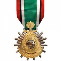 The Saudi Arabian Medal for the Liberation of Kuwait is a decoration presented by the Government of Saudi Arabia to recognize personnel of Allied Forces who served in operation Desert Storm between the dates of January 17, 1991 and February 28, 1991. Owing to the short eligible time frame for this medal, it is considered more rare than the Kuwait Liberation Medal.