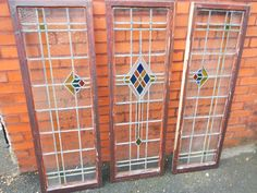 Vintage Art Deco Stained Glass Window (Lead Light) 1930 s house
