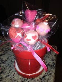 Valentines Day Cake Pops - made some yesterday!