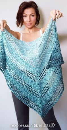 Crochet Poncho Teal Tenacity Crochet Shawl Pattern - A Positive Twist on Yarn Crochet Prayer Shawls, Crochet Shawls And Wraps, Crochet Scarves, Crochet Clothes, Crochet Hats, Crochet Sweaters, Crochet Designs, Crochet Patterns, Black Crochet Dress