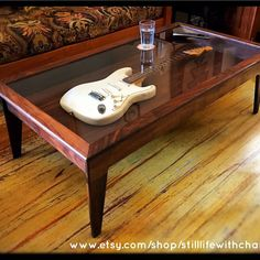 Shadow Box Walnut Coffee Table For Electric Guitar Http://ift.tt/