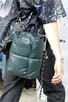 The complete Lanvin Spring 2017 Menswear fashion show now on Vogue Runway. Fashion Bags, Fashion Show, Mens Fashion, Rare Clothing, Sac Week End, Nylon Bag, Casual Bags, Backpack Bags, Laptop Backpack