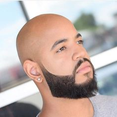 35 Black Men Beard Styles Guide) is part of Clothes Mens Beards - Black men have no limit to the number of different beard styles they can try However, there's no doubt that some cuts suit black guys better than others In this…View Post Double Crown Hairstyles, Black Men Hairstyles, Haircuts For Men, Men's Hairstyles, Hairstyle Ideas, Bald With Beard, Beard Fade, Sexy Beard, Man Beard