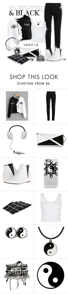 """""""~ROMWE~ Contrast Face Print Hoodie ~"""" by justwanderingon ❤ liked on Polyvore featuring Yves Saint Laurent, BCBGMAXAZRIA, Marni, Calvin Klein, Casetify, Carolina Glamour Collection and ASOS"""