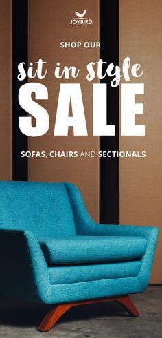 Don't be generic with your furniture choices, make a statement with Mid Century Modern furniture from Joybird! Take 20% off sofas, chairs, and sectionals right now during our Sit-in-Style Sale! All Joybird furniture comes with FREE in-home delivery & lifetime warranty!