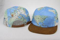 world map hat