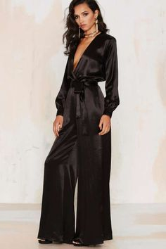 After Party Vintage Love the Nightlife Plunging Jumpsuit - What's New : Clothes