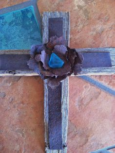 New Mexico Aqua Desert Sea Glass Wire and  Metal by GiChPaLo, $25.00