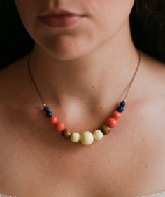 Adjustable statement necklace / $33.00 / Made from deconstructed vintage pieces! #upcycle