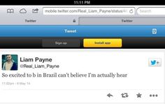 Liam just tweeted this^^^Liam's bad grammar and spelling is back