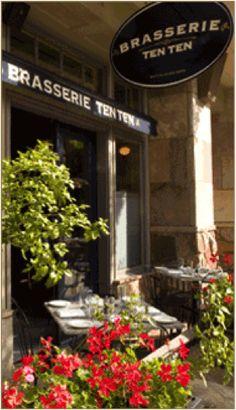 Brasserie ten ten French restaurant date idea in Boulder across the ride from The Mediterranean Restaurant (same owners)