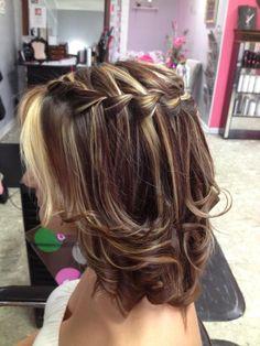 waterfall braid works on medium layered hair too!