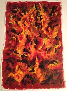 Fire - Acrylic Painting on Canvas