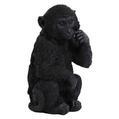 Monkey Ornament, Black