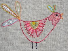 Simple Embroidery Designs For Tops below Easy And Simple Hand Embroidery Designs that Embroidery Guide than Embroidery Cloth or Embroidery Library How To Embroidered Bird, Bird Embroidery, Simple Embroidery, Cross Stitch Embroidery, Embroidery Patterns, Machine Embroidery, Bird Quilt, Needlework, Fabric